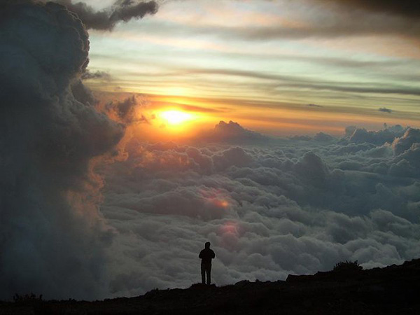 Above the clouds a sunset